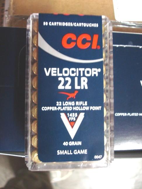 ... :: .22 :: .22 LR :: CCI - .22 LR Velocitor CPHP 40 grain - 50 Rounds
