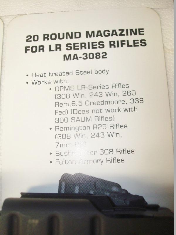 Kg 99 Magazines: DPMS Series 'LR' 20 Rd .308 New Factory Original Magazine